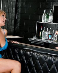 Sexy blonde club owner takes a hard fucking from a potential employee.